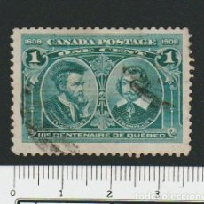 Sellos: CANADÁ.1908.-1 CENT.YVERT 86.USADO.. Lote 78276753