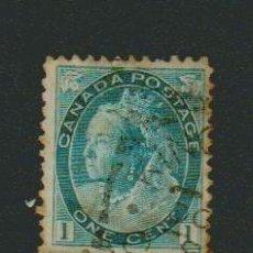 Sellos: CANADÁ.1898-1903.-1 CENT.YVERT 63.USADO. Lote 79148217