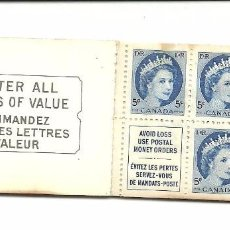 Sellos: CARNET CON 5 SELLOS DE 5 CENT DE CANADA 1954. Lote 81026152