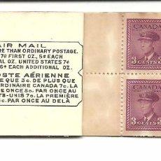 Sellos: CARNET CON 8 SELLOS REY JORGE IV 1943 CANADA. Lote 81027764