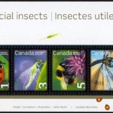 Sellos: [CF7550] CANADÁ 2007, HB DEFINITIVOS: INSECTOS (MNH). Lote 82131248