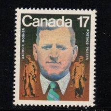 Sellos: CANADÁ 778** - AÑO 1981 - CENTENARIO DEL NACIMIENTO DE AARON MOSHER, SINDICALISTA. Lote 146701834