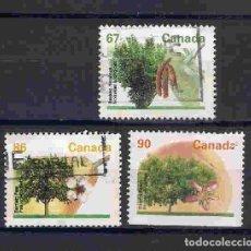 Sellos: ÁRBOLES FRUTALES DE CANADÁ. SELLOS AÑO 1992/5. Lote 88651720