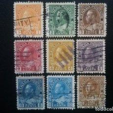 Sellos: CANADÁ , YVERT Nº 108 - 117 (SERIE SIN EL Nº 114 Y 118) , 1918-25. Lote 88956904