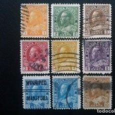 Sellos: CANADÁ , YVERT Nº 108 - 117 (SERIE SIN EL Nº 114 Y 118) , 1918-25. Lote 88957152