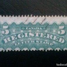 Sellos: CANADÁ , CORREO REGISTRADO , YVERT Nº 2 . , 1875-88. Lote 88996464
