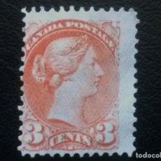 Sellos: CANADÁ , YVERT Nº 30 , NUEVO SIN GOMA, 1870-93 , SCOTT Nº 37. Lote 89344688