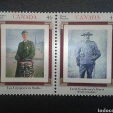 Sellos: CANADÁ. YVERT 1825/6. SERIE COMPLETA NUEVA SIN CHARNELA. UNIFORMES. Lote 97899043