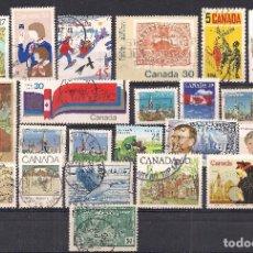 Sellos: CANADA - LOTE 23 SELLOS DIFERENTES - USADO. Lote 100236291