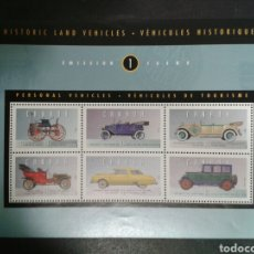 Selos: CANADÁ. YVERT HB-10. SERIE COMPLETA SIN CHARNELA. COCHES. Lote 104332611