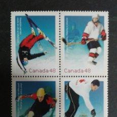 Stamps - CANADÁ. YVERT 1919/22 SERIE COMPLETA SIN CHARNELA. DEPORTES DE INVIERNO - 104332632