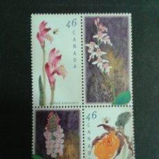 Sellos: CANADÁ. YVERT 1658/61. SERIE COMPLETA SIN CHARNELA. FLORA.. Lote 104332808