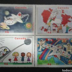 Sellos: CANADÁ. YVERT 1801/4. SERIE COMPLETA SIN CHARNELA. DIBUJOS INFANTILES. Lote 104332846