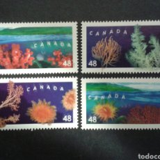 Sellos: CANADÁ. YVERT 1932/5. SERIE COMPLETA SIN CHARNELA. FAUNA. CORALES. Lote 104332858