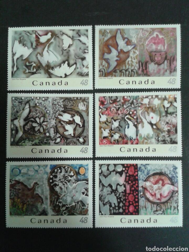 CANADÁ. YVERT 2030/5. SERIE COMPLETA SIN CHARNELA. PINTURAS. JEAN PAUL RIOPELLE (Sellos - Extranjero - América - Canadá)