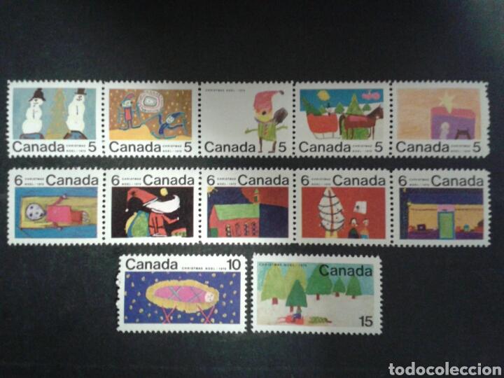 CANADÁ. YVERT 439/50. SERIE COMPLETA SIN CHARNELA. NAVIDAD. DIBUJOS INFANTILES. (Sellos - Extranjero - América - Canadá)