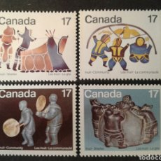 Sellos: CANADÁ. YVERT 713/6. SERIE COMPLETA NUEVA SIN CHARNELA. INUITS. ESQUIMALES.. Lote 104393056
