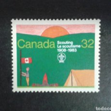 Sellos: CANADÁ. YVERT 852. SERIE COMPLETA NUEVA SIN CHARNELA. SCOUTS. Lote 104489763