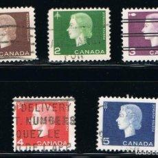 Sellos: CANADA - LOTE DE 5 SELLOS - PERSONAJE (USADO) LOTE 3. Lote 105072007