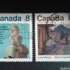 Sellos: CANADÁ. YVERT 565/6. SERIE COMPLETA USADA. LITERATURA.. Lote 107178771