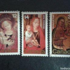 Sellos: CANADÁ. YVERT 682/4. SERIE COMPLETA USADA. NAVIDAD.. Lote 107178896