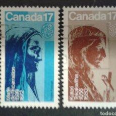 Sellos: CANADÁ. YVERT 764/5. SERIE COMPLETA USADA. ESCULTURAS.. Lote 107178974