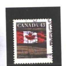 Sellos: CANADA 1992 - YVERT NRO. 1298 - BANDERA - USADO. Lote 109165235