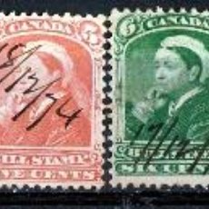 Sellos: CANADA 1868. BILL STAMP. 8 VALORES DIFERENTES . * MH (18-96). Lote 113111291