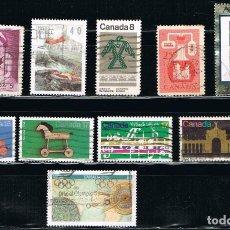 Sellos: CANADA - LOTE DE 10 SELLOS - VARIOS (USADO) LOTE 12. Lote 114621147