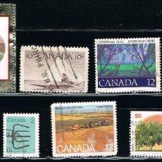 Sellos: CANADA - LOTE DE 10 SELLOS - VARIOS (USADO) LOTE 14. Lote 114621639