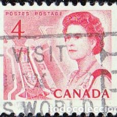 Sellos: 1967 - CANADA - ISABEL II DEL REINO UNIDO CANAL CENTRAL - YVERT 381. Lote 116359539
