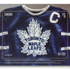 Sellos: [CF9175] CANADÁ 2017, HB TORONTO MAPLE LEAFS (MNH). Lote 127249416