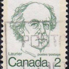 Sellos: 1973 - CANADA - ISABEL II - ANTIGUOS PRIMEROS MINISTROS - SIR WILFRID LAURIER - YVERT 509. Lote 131610122