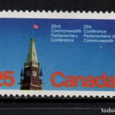 Sellos: CANADA 642** - AÑO 1977 - CONFERENCIA PARLAMENTARIA DE LA COMMONWEALTH. Lote 136046646