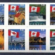 Sellos: CANADA - BANDERA Y PAISAJES - 25 CARNETS (2005) ** (VER IMAGENES). Lote 137710982