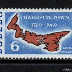 Sellos: CANADA 419** - AÑO 1969 - BICENTENARIO DE LA CIUDAD DE CHARLOTTETOWN. Lote 140137730