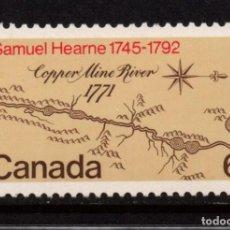 Sellos: CANADA 460** - AÑO 1971 - BICENTENARIO DE LA EXPEDICION SAMUEL HEARNE. Lote 140137914