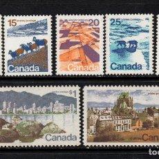 Sellos: CANADA 471/77** - AÑO 1972 - PAISAJES Y CIUDADES . Lote 140139482
