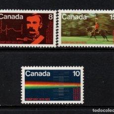 Sellos: CANADA 495/97** - AÑO 1973 - CENTENARIO DE LA FUNDACION DE LA POLICIA MONTADA . Lote 140140098