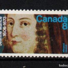 Sellos: CANADA 498** - AÑO 1973 - TRICENTENARIO DE LA MUERTE DE JEANNE MANCE. Lote 140140402