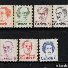 Sellos: CANADA 508/14** - AÑO 1973 - PRIMEROS MINISTROS. Lote 140141134