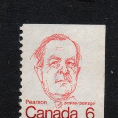 Sellos: CANADA 513A** - AÑO 1973 - PRIMEROS MINISTROS - LESTER B. PEARSON. Lote 140141518