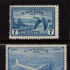 Sellos: CANADA AEREO 11/12** - AÑO 1946 - AVIONES - AVES - RETORNO A LA ECONOMIA DE LA PAZ. Lote 140142286