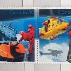 Sellos: CANADÁ , BLOQUE DE 4 SELLOS DIFERENTES, DEPORTES DE NIEVE, NUEVOS . Lote 140352370