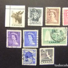 Sellos: CANADA 1953 TIMBRES SELLOS YVERT 258 - 64 + 274 - 75 FU. Lote 140691770