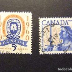 Sellos: CANADA 1960 TIMBRES SELLOS YVERT 316 - 317 FU. Lote 140701014