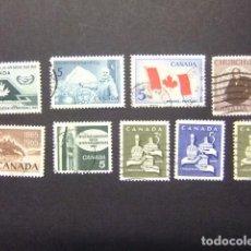Sellos: CANADA 1965 TIMBRES SELLOS YVERT 361 - 68 FU. Lote 140945058