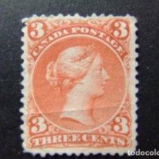 Sellos: CANADA 1868 - 90 REINE VICTORIA YVERT 21 (*). Lote 141028250