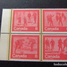 Sellos: CANADA 1974 JEUX OLYMPIQUES DE MONTRÉAL 1976 YVERT 544 / 547 ** MNH. Lote 141030390