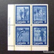 Sellos: CANADA 1974 JEUX OLYMPIQUES DE MONTRÉAL 1976 YVERT 526 / 529 ** MNH. Lote 141030646